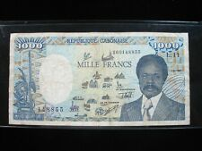 New listing Gabon 1000 Francs 1991 P10 Africa Elephant 55# Bank Currency Banknote Money