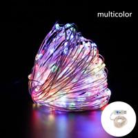 Serie luci di Natale a led catena con USB Microled Multicolore RGB filo in rame