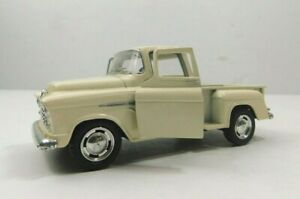Kinsmart 1955 Cream Chevy Step Side Truck 1:32 Scale Diecast Pull Back Classic