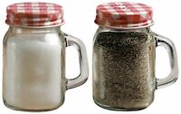 Circleware Mini Mason Jar Mug Glass Salt & Pepper Shakers