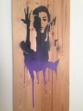PRINCE - PURPLE RAIN signed Emo Raphiel Astoria Dismaland Banksy free phone un