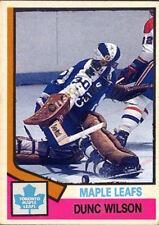 Custom made  OPC 1974-75 Toronto Maple Leafs Dunc Wilson hockey card