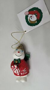 2001 Mr Bingle Snowman Resin Christmas Tree Ornament New Orleans Holiday Icon