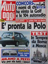 Auto OGGI n°169 1990 Test Alfa Romeo 164 Twin Spark vs Rover 820i Sterling[Q200]