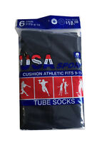 6 OR 12 Pairs New Men's Cotton Athletic Sports TUBE Socks 9-15   Made In USA