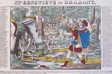 Imagerie populaire, Pellerin, Epinal, Sainte Geneviève de Brabant, bois gravé