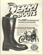 Derri Boots Motorcycle 1979 Magazine Advert #1028