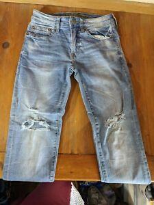 AMERICAN EAGLE men's Slim Straight Stretch Jeans Extreme Flex sz 28x28 destress