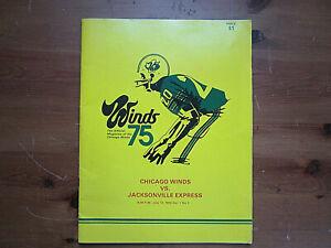 Vintage 1975 Chicago Winds WFL Football Team Program Vol. 1 No. 1