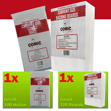 Comic Concept Sparpaket 100x Current Size Bags (+Lasche) +Current Boards