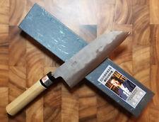 Fujiwara Nashiji 165mm Santoku - Shirogami No. 1 - Stainless Clad - Wa Handle