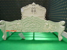 "UK STOCK  Double 4'6""  Cream  French style designer Rococo Bed .... Top Quality"
