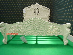 """UK Double 4'6""""  Cream  French style designer Rococo Bed .... Top Quality"""