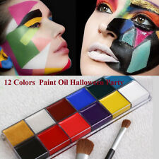 9388 12Colors Face Body Paint Oil Painting Art Make Up Halloween Party Kit Set
