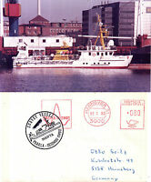 GERMAN SURVEY SHIP MS MANTA A SHIPS CACHED COVER & AN OFFICIAL PHOTOGRAPH