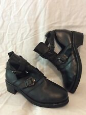 Top Shop Black Ankle Leather Boots Size 40