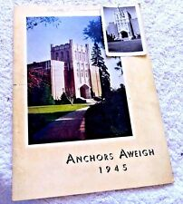 YEARBOOK SAN LEANDRO HIGH SCHOOL CAL ANCHORS AWEIGH 1945 w/REAL PHOTO