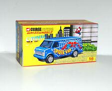 CUSTOM DISPLAY BOX FOR CORGI JUNIORS 56 SPIDER-VAN - FREE UK POST