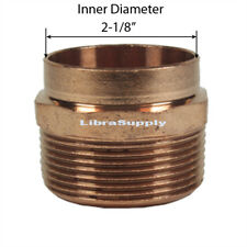 Libra Supply 2 inch, 2'', 2-inch DWV Wrought Copper Male Adapter C x MIP