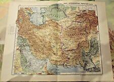 1962 Carte & Image Iran Afghanistan Pakistan Qazvin,Port pétrolier Aden,Kuweit