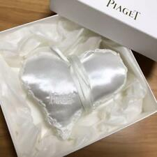 PIAGET Heart Shaped Ring Pillow White Satin In Box New
