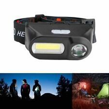COB LED Headlight Headlamp Head Lamp Flashlight USB Rechargeable 18650 Torch AU