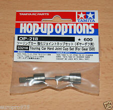 Tamiya 53218 touring car Dur Joint Cup Set (for Gear Diff) (TA01/TA02/TL01) Neuf sous emballage