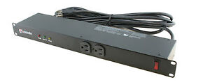 12 Outlet Rack Mount Surge Lightning Protector Power Strip PDU 1800 Joules 15A
