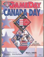 Buffalo Bills Kansas City Chiefs 10/30/94 NFL GameDay Program Steve Christie