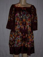 Authentic Just Cavalli floral 100% silk tiered dress fully lined, Size 38  NWT