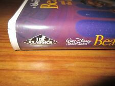 Disney Beauty and the Beast Black Diamond Classic on VHS with proof of purchase