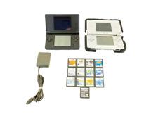 LOT OF 2 NINTENDO DS LITE Blue/Silver SYSTEM C/ USG-USA SYSTEM W/ 13 GAMES