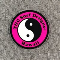"""T&C Town & Country Surf Designs Hawaii Sticker 2"""" SMALL Authentic T&C Pink"""