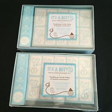 Lot of 2 Baby Shower It's A Boy Birth Announcement Blue Kit - New & Sealed