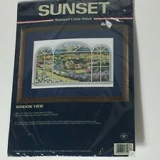 Sunset Dimensions cross stitch kit Window View 13103 church country view