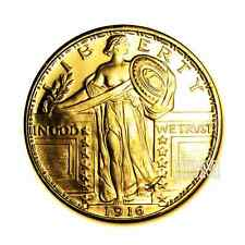 1 oz Silver Round  Standing Liberty .999 Silver Coin 24K Gold Gilded