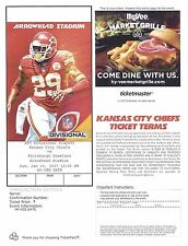 Pittsburgh Steelers at Kansas City Chiefs 2017 AFC DIVISIONAL e- ticket PDF stub