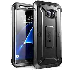 Galaxy S7 Edge Case SUPCASE Full-body Rugged Holster Cover Unicorn Beetle BLACK