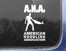 New listing American Noodling Association Fishing Truck Car Auto Glass Die Cut Vinyl Decal