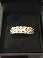 1 Ct Champagne And White Diamond 10k Yellow Gold Band Ring Size 8