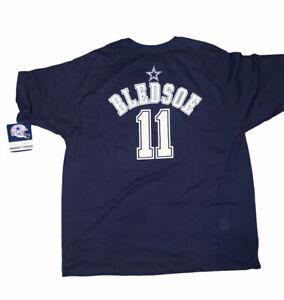 reebok cowboys 11 bledsoe t shirt size 2xl dark blue B#2