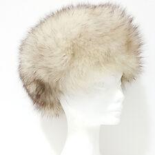 Cappello Pelliccia VOLPE Pelo Lungo bianco sfumato castano 56 57 colbacco G170