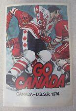 Russian Soviet USSR Go Canada Team Hockey Postcard Mike Walton 1974