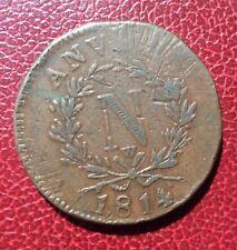France - Belgique - Napoléon Ier - Siège D'Anvers  10 Centimes 1814 W