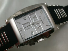 *MH/U44* Hugo von Eyck Quartz Chronograph Stahl HAU Herrenuhr mit Gummiband