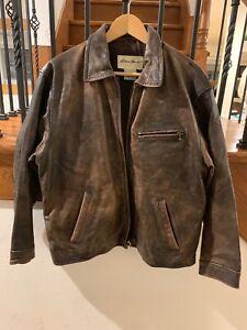 vintage eddie bauer leather jacket