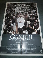 GANDHI(1982)BEN KINGSLEY ORIGINAL ONE SHEET POSTER MINT UNUSED+