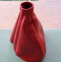 ALFA ROMEO DUETTO o SPIDER cuffia in vera rossa pelle x cambio leva marce