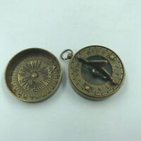 Nautical Antique Brass Dollond London Sundial Compass Vintage, Solid Brass