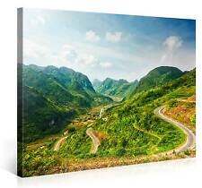 MOUNTAIN ROAD BILD LANDSCHAFT ART BERGE FOTO KUNST LEINWAND 100x75cm #e3264